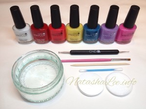 Tools For Easy Water Marble Nail Art