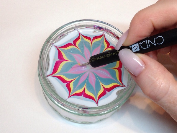 Easy Water Marble Nail Art With Nail Polish - Natasha Lee
