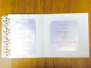 Pearlescent Wedding Invitations
