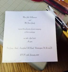 Make Vintage Wedding Invitations