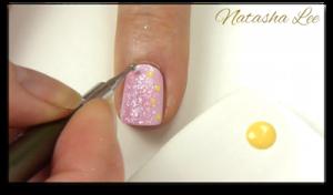 pink glitter polish