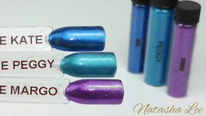 Ultra Fine Nail Art Glitters Blue Teal Purple