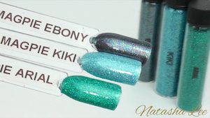 Green holographic nail art glitter
