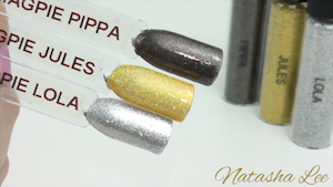 holographic silver gold nail glitter