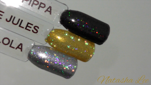 magpie glitter nail art holographic