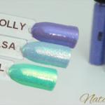 Magpie Glitter Nail Art Iridescent green blue violet