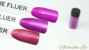 purple neon nail pigment