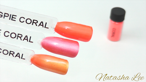 Coral magpie neon nail pigments