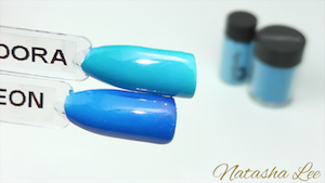 Neon blue nails magpie lecente