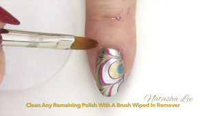 Perfect Water Marbling nails