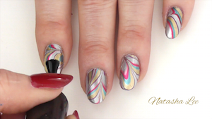 How to easily water marble nails