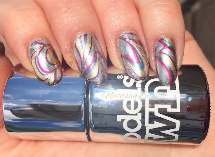 Water marble nail art chrome for fingers toes natasha lee water marble nail art prinsesfo Images