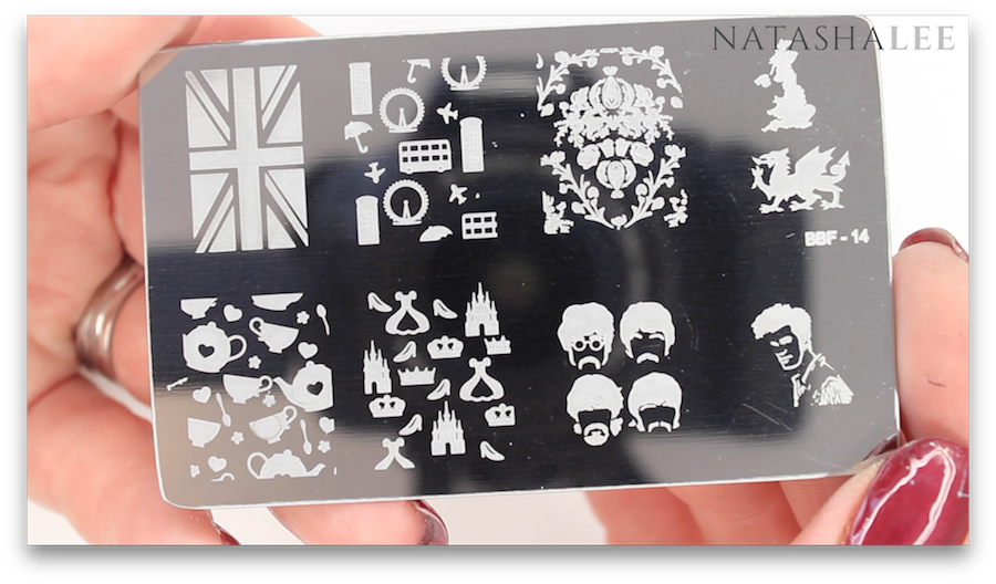 london union jack teapot princess nail art stamping plate