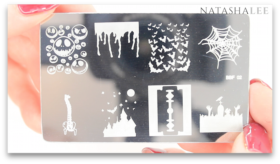 Halloween nail art stamping plate