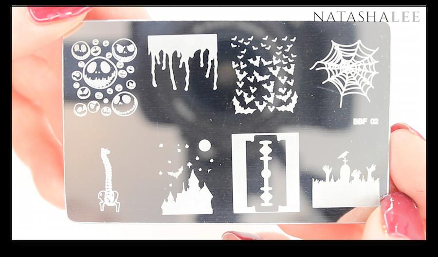 Halloween nail art stamping plate