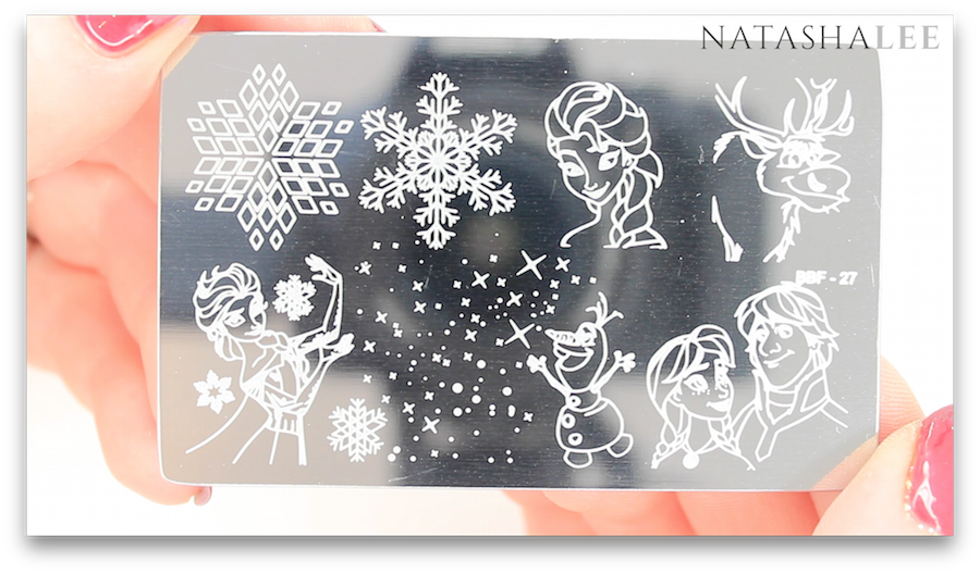 Disney Frozen Nail Art BBF Stamping Plate