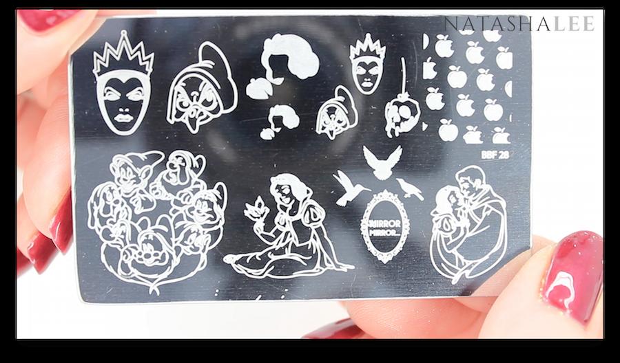 Snow White 7 Dwarfs nail art Stamping Plate