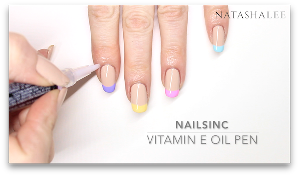 nail trend pastel french tips manicure