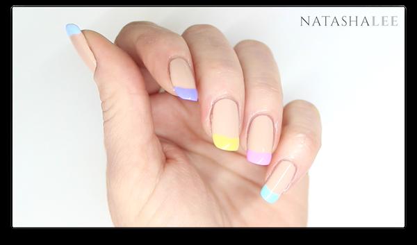 Pastel french tip nail art