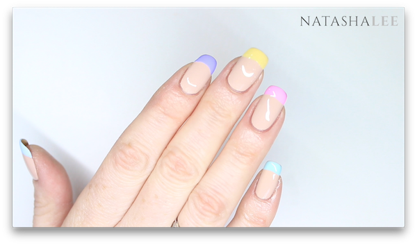 french pastel nail art