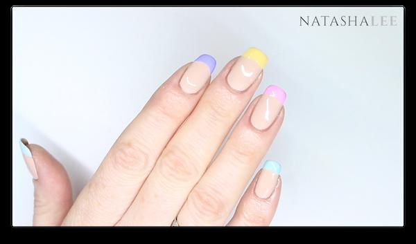 french pastel nail art