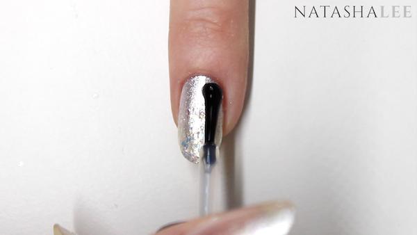 nail trend pearl glitter nail art white