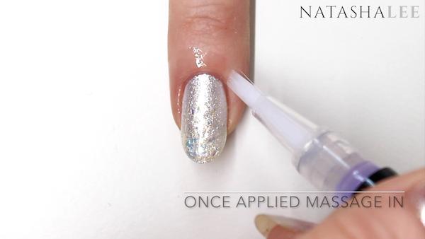 white pearl glitter nail art