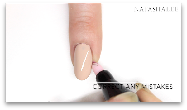 silver tip nude french nail art