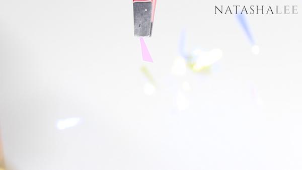 holo glass unicorn nail art