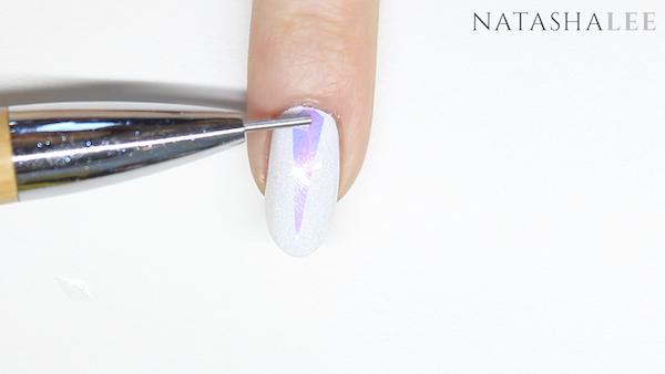 holo glass unicorn nail art nails