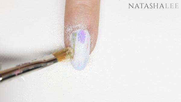 holo glitter unicorn nail art