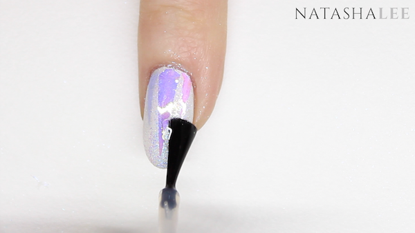 unicorn nail art glitter glass nails