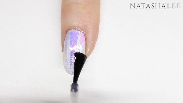 unicorn nail art glitter glass nails