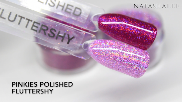 holo glitter swatches nails
