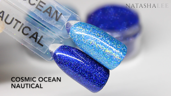 nail art holo glitter swatch blue