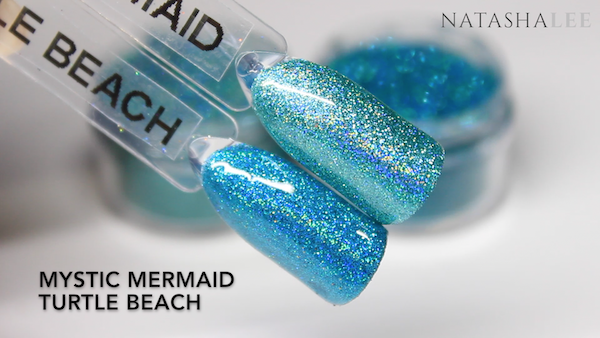 holo glitter mermaid swatches