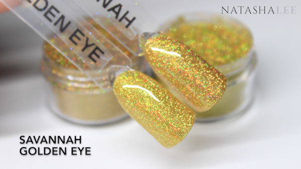 gold holo glitter swatches nails