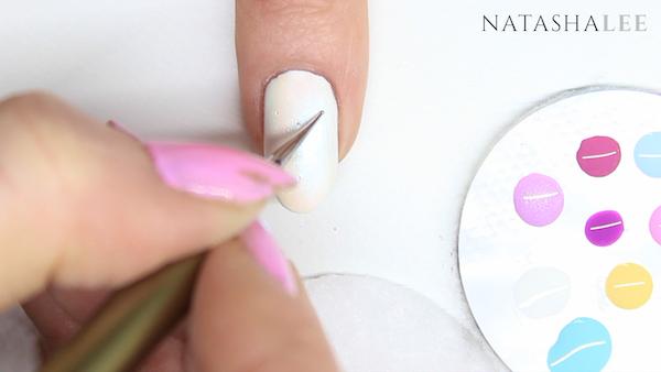 dotty heart nail art designs