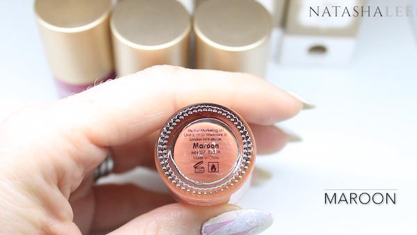 moyou london stamping polish review maroon