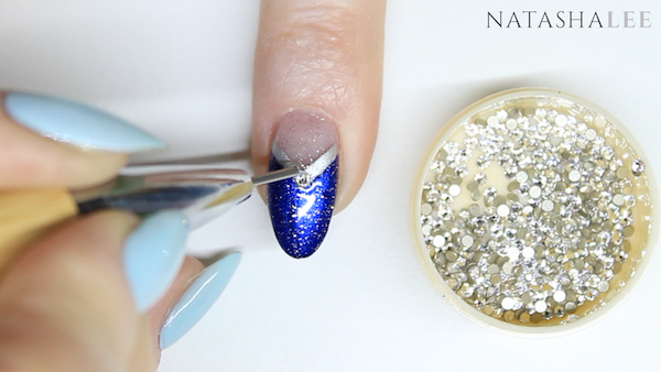 how to apply gems to nail polish