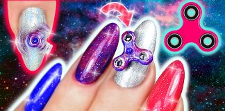 mini Finger Spinner nails